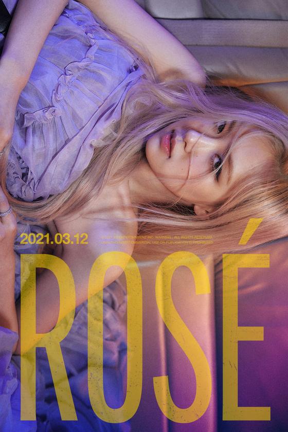 Teaser poster for Rosé's upcoming solo album [YG ENTERTAINMENT]