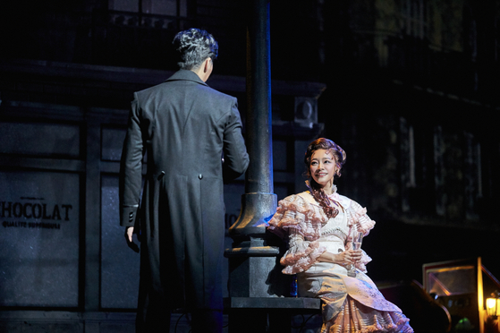 Kim So-hyun plays the role of Christine, a young aspiring opera singer, in the musical ″Phantom.″ [EMK MUSICAL COMPANY]