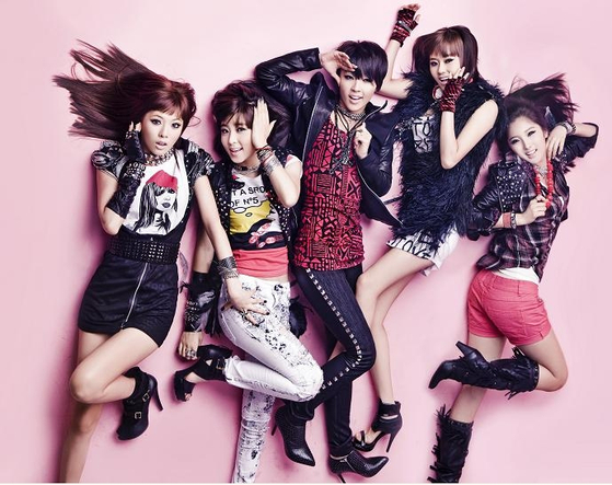 """Girl group 4Minute debuted in 2009 and disbanded in 2016, falling victim to the """"seven-year curse."""" [CUBE ENTERTAINMENT]"""