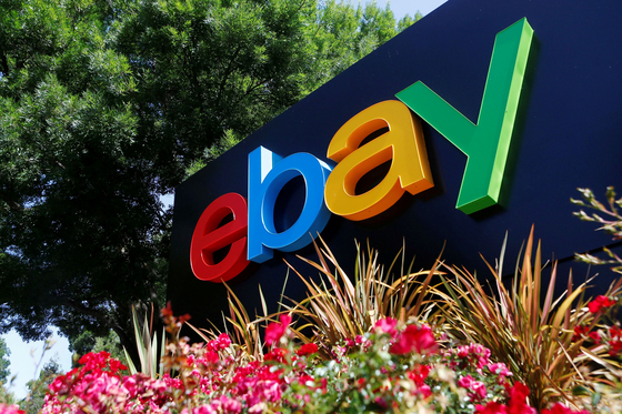 An eBay sign at an office building in San Jose, California. [REUTERS]