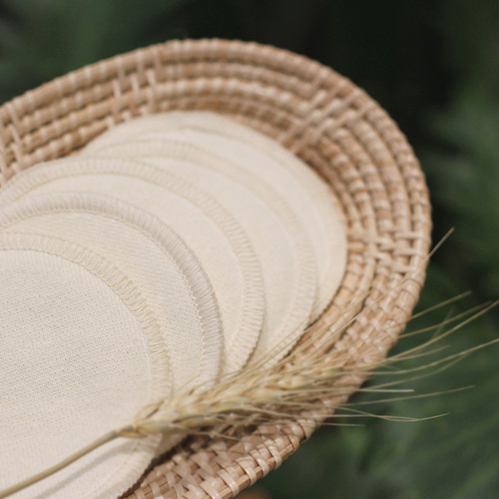 Reusuable cotton pads made of 70 percent hemp cloth and 30 percent cotton. [THE PICKER]