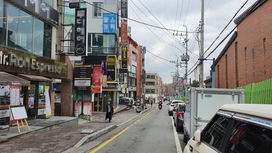 A street near Hannam University in Daejeon on March 3. [SHIN JIN-HO]