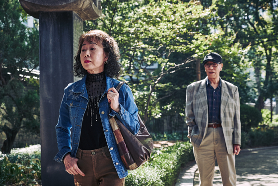 "In ""The Bacchus Lady"" (2016), Youn portrays an elderly prostitute, wandering the parks in central Seoul for potential customers. [CGV ARTHOUSE]"