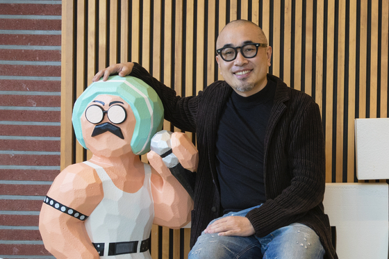 Kim Bong-jin, founder and CEO of Woowa Brothers, poses at the company's office in Songpa District, southern Seoul. [JANG JIN-YOUNG]