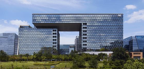 NCSoft's headquarters building in Pangyo, Gyeonggi. [NCSOFT]