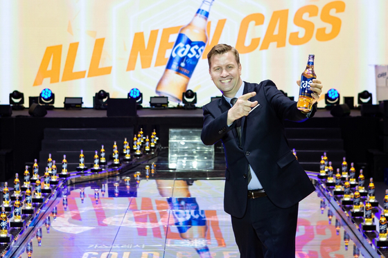 Oriental Brewery CEO Ben Verhaert at a press event held in Gangnam, southern Seoul, on Friday to announce the release of All New Cass. [OB]