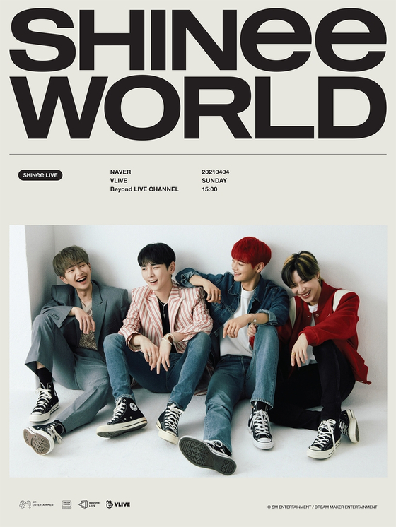 """Poster for boy band SHINee's upcoming online concert """"Beyond Live — SHINee: SHINee World.″ [SM ENTERTAINMENT]"""