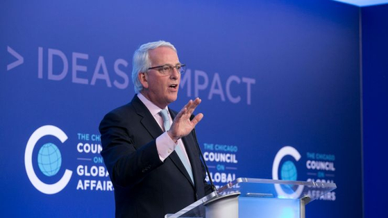 Ivo Daalder, the president of the Chicago Council on Global Affairs, speaks about U.S. foreign policy at an event at the council in Chicago last September. [CHICAGO COUNCIL]