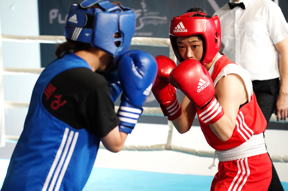 Jin-ah in the ring. She is fighting not just as a boxer but also many struggles in her personal life. [INDIESTORY]