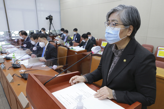 Korea Disease Control and Prevention Agency commissioner Jeong Eun-kyeong speaks before the health committee of the National Assembly on Wednesday. [YONHAP]