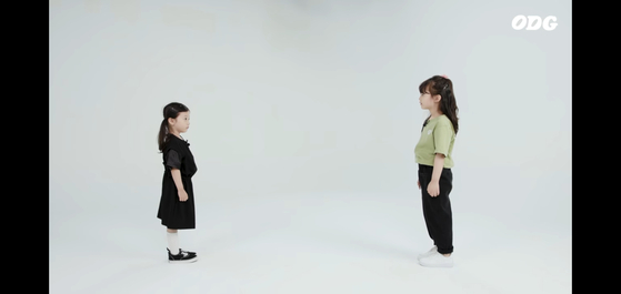 """In YouTube channel ODG's video of a five-year-old and seven-year-old meeting each other for the first time, the children's first question to each other is """"How old are you?"""" [SCREEN CAPTURE]"""
