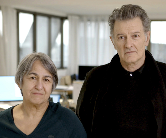 French architects Anne Lacaton and Jean-Philippe Vassal, recipients of this year's Pritzker Architecture Prize. [YONHAP/AP]