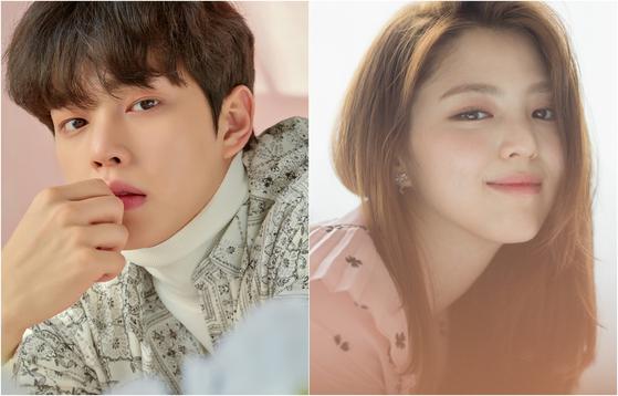 Actors Song Kang, left, and Han So-hee [ILGAN SPORTS]