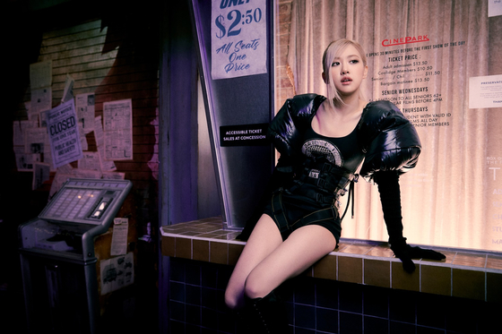 Singer Rose in a scene from the music video of her single ″On the Ground.″ [YG ENTERTAINMENT]