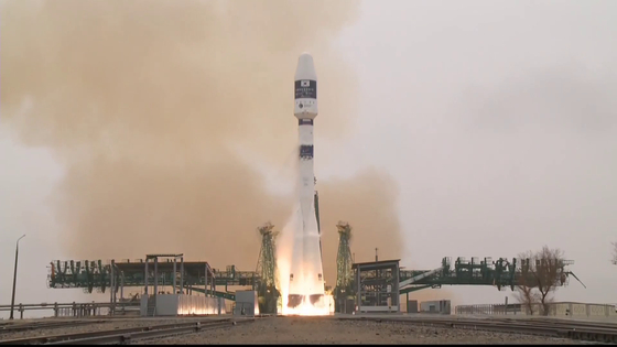 Korea's CAS500-1 satellite takes off in Russia's Soyuz 2.1a launcher from Baikonur Cosmodrome, Kazakhstan, on Monday. [MINISTRY OF SCIENCE AND ICT]