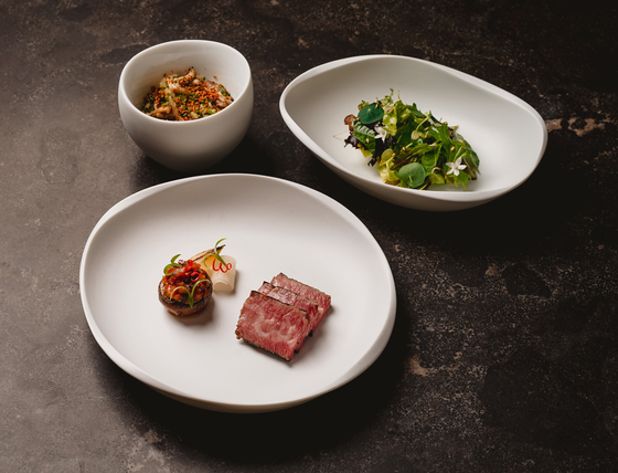 A dish of galbi, or barbecued short rib, by Meta in Singapore, run by Korean chef Sun Kim. [ASIA'S 50 BEST RESTAURANT]