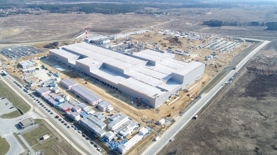 SK ie technology's separator factory under construction in Poland. [SK INNOVATION]