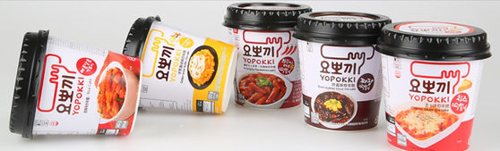 Young Poong's packaged tteokbokki products. [YOUNG POONG]