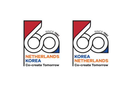 Logo created by the Dutch Embassy in Korea to celebrate the 60th anniversary of diplomatic relations between the Netherlands and Korea. [EMBASSY OF THE NETHERLANDS IN KOREA]