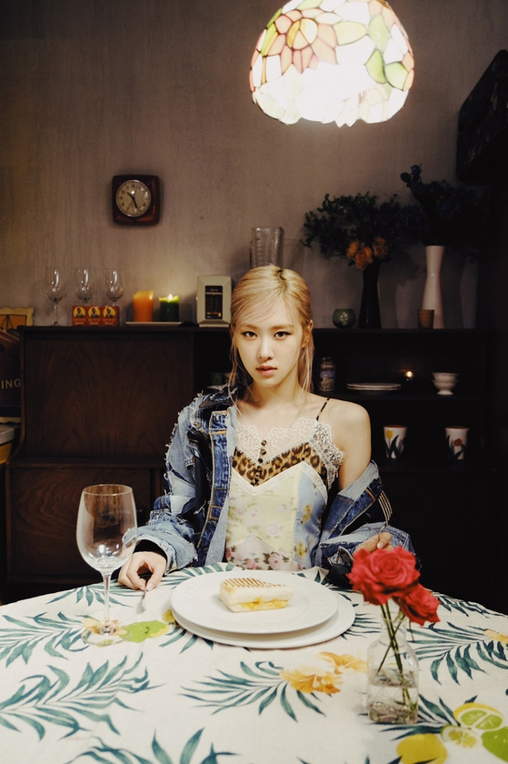The poster revealed by YG Entertainment for Rosé's ″Gone.″ [YG ENTERTAINMENT]