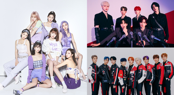 Girl group Oh My Girl, boy bands Cravity and WEi [NCSOFT]