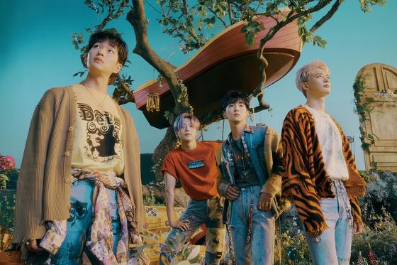 The teaser image for boy band SHINee's upcoming album ″Atlantis.″ [SM ENTERTAINMENT]