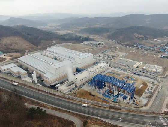 An aerial view of Posco Chemical's anodes factory in Sejong [POSCO CHEMICAL]