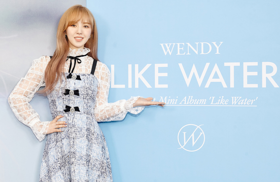 Red Velvet's Wendy poses during an online press conference ahead of the release of her debut solo album on Monday. [SM ENTERTAINMENT]