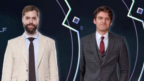 League of Legends Champions Korea broadcasters Wolf Schroeder (left) and Maurits ″Chronicler″ Meeusen. [SCREEN CAPTURE]