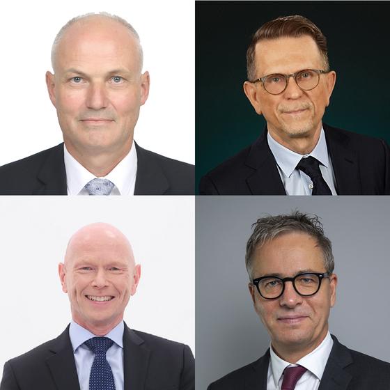 Clockwise from left, above: Einar Jensen, ambassador of Denmark; Pekka Metso, ambassador of Finland; Jakob Hallgren, ambassador of Sweden; and Frode Solberg, ambassador of Norway. [EMBASSIES OF DENMARK, FINLAND, SWEDEN AND NORWAY IN KOREA]