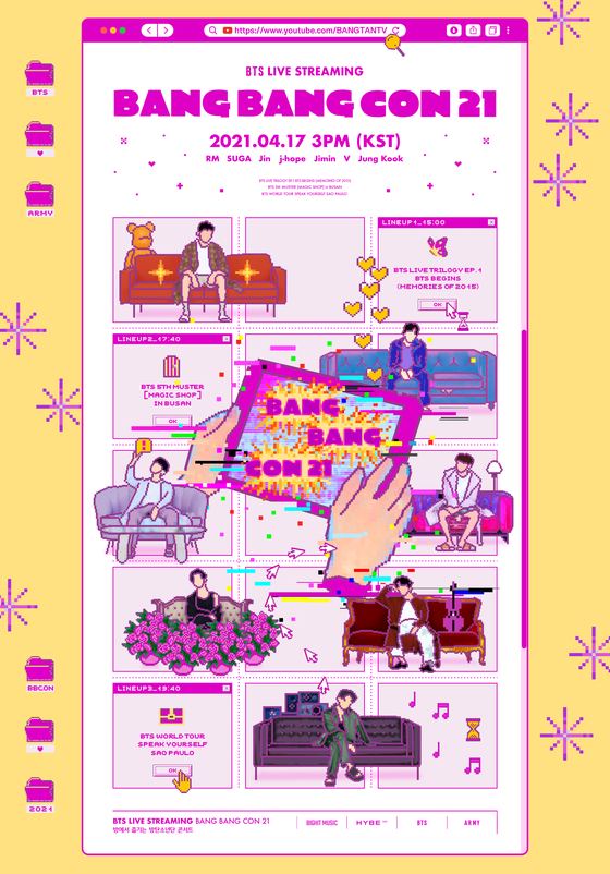 The poster for BTS's upcoming ″Bang Bang Con 21″ unveiled through the band's social media channels on Monday. [BIG HIT MUSIC]
