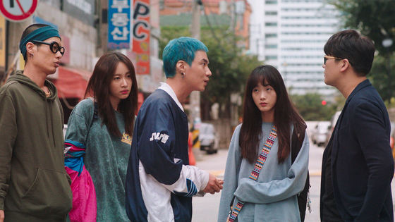 Se-jin, (second from right) and her friends whom she met on the street do everything they can to come up with the money so she can have an abortion. [LITTLE BIG PICTURES]