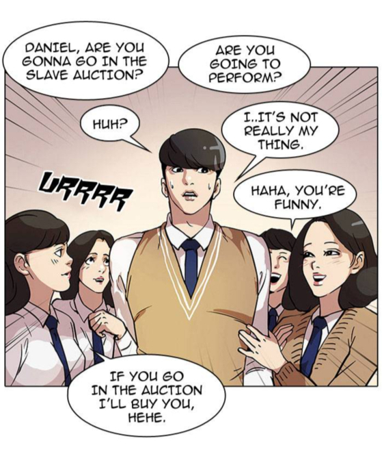 """Scenes from the English version of """"Lookism"""" by Pak Tae-jun [SCREEN CAPTURE]"""