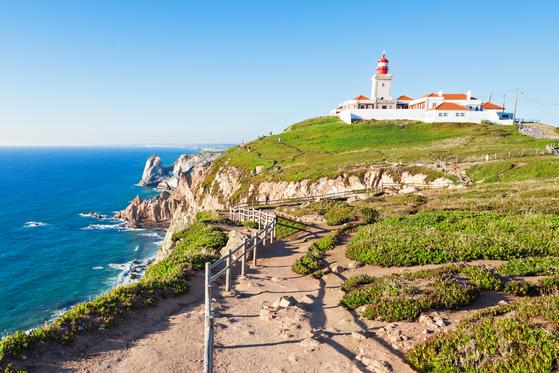 Light house at Cabo da Roca, Sintra, Portugal. [LEE SANG-HOON]