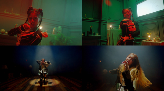 Scenes from TRI.BE's music video for ″Doom Doom Ta″ (2021) [TR ENTERTAINMENT]