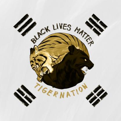 The original design for Gen.G's Black Lives Matter patch drew ire among Korean fans for incorporating the taegeukgi, or Korean flag. [GEN.G ESPORTS]