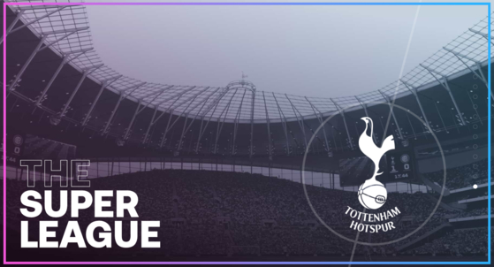 The European Super League website advertises the inclusion of Tottenham Hotspur among its 12 founding teams. [SCREEN CAPTURE]