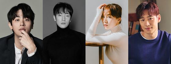 From left, actors Park Jung-min, Son Suk-ku, Choi Hee-seo and Lee Je-hoon [SEM COMPANY, SBD ENTERTAINMENT, SARAM ENTERTAINMENT, CJ ENTERTAINMENT]