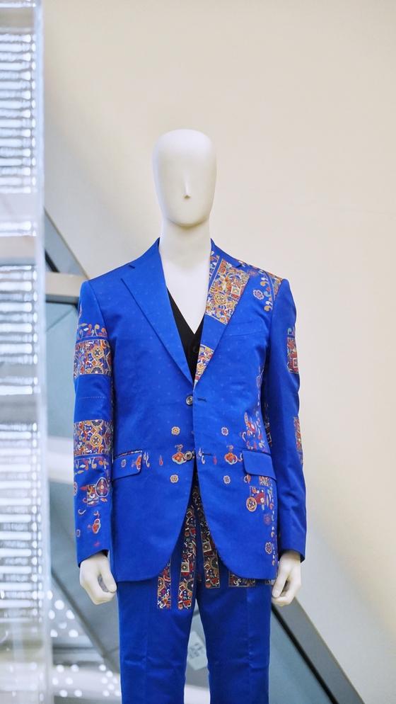 A hanbok-inspired suit designed by Rieul [HANBOK ADVANCEMENT CENTER]
