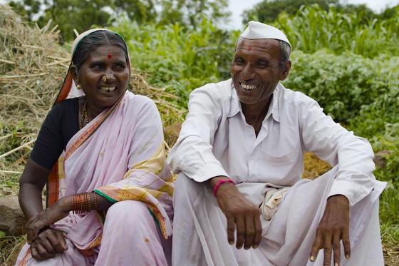 Indian couple Satyabhama and Satva [NETFLIX]