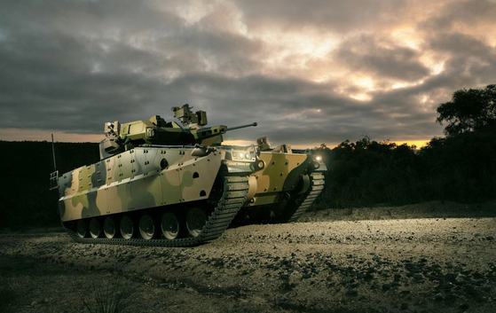 Hanwha Defense's Redback is one of two finalists in the Australian Army's infantry fighting vehicle competition. The company on April 16 submitted an entry to design a optionally manned fighting vehicle replacement for the U.S. Army's M-2 Bradley. [YONHAP]