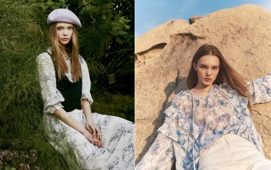 G-Cut's new collection featuring floral prints [SHINSEGAE INTERNATIONAL]