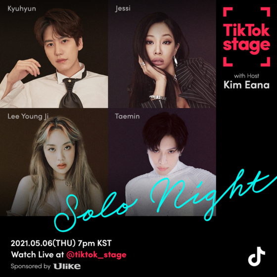 A poster for the upcoming online event ″TikTok Stage Solo Night,″ scheduled for May 6. [TIKTOK]
