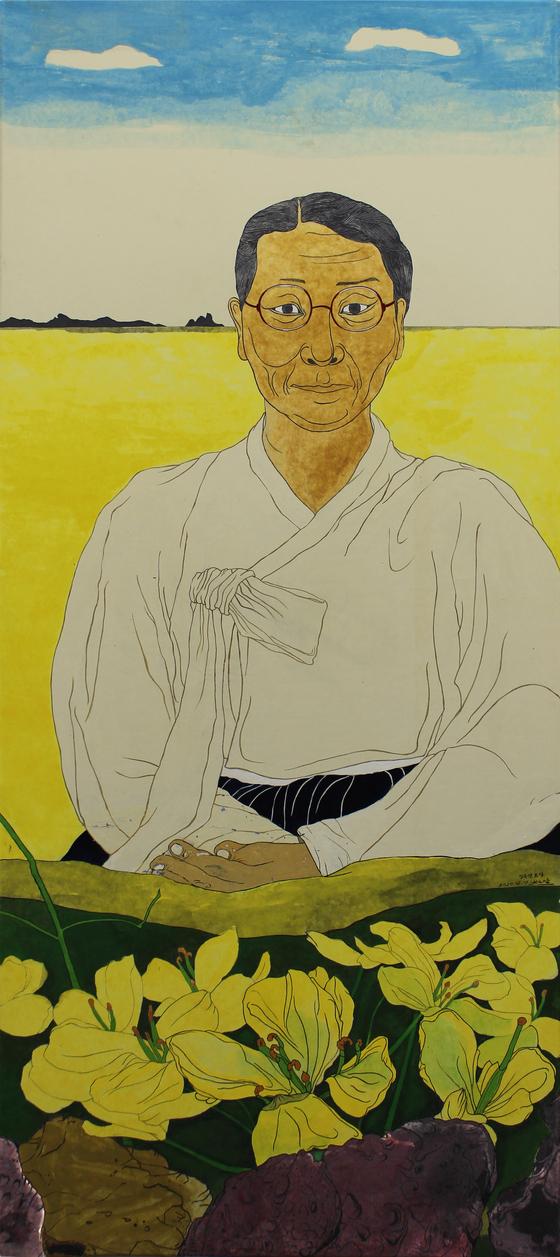 The portrait of Kim Ok-ryeon by Yun Suk-nam. [YUN SUK-NAM]