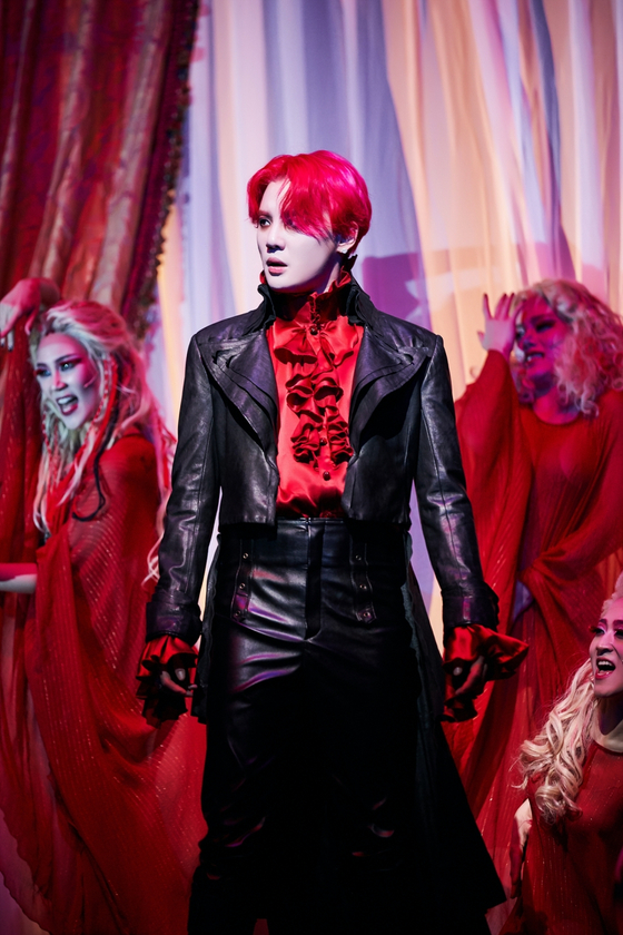 K-pop star and a musical actor Kim Jun-su plays Dracula in ″The Musical: Dracula.″ [OD COMPANY]