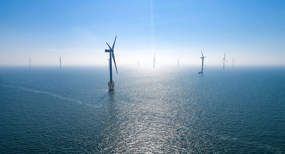 Doosan Heavy Industries & Construction's offshore wind turbines installed in North Jeolla. [DOOSAN HEAVY INDUSTRIES & CONSTRUCTION]