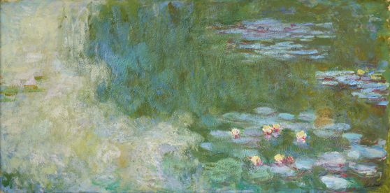 """""""Le Bassin Aux Nymphéas (Water Lily pond)""""(1919-20) by French impressionist artist Claude Monet (1840-1926). [MINISTRY OF CULTURE, SPORTS AND TOURISM]"""