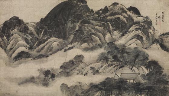 """Inwang Jesaekdo (Scene of Inwangsan Mountain After Rain)"" by Jeong Seon(1676-1759) [CULTURE MINISTRY]"