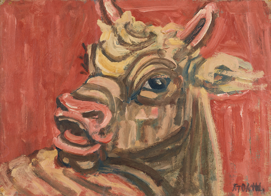 """Lee Jung-seob (1916-1956)'s """"Bull""""(1950s), [MINISTRY OF CULTURE, SPORTS AND TOURISM]"""