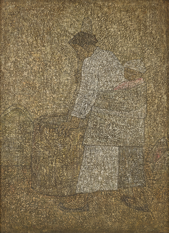 """""""A Woman Pounding Grain""""(1954) is one of representative works by Park Soo-keun(1914-1965). [MINISTRY OF CULTURE, SPORTS AND TOURISM]"""